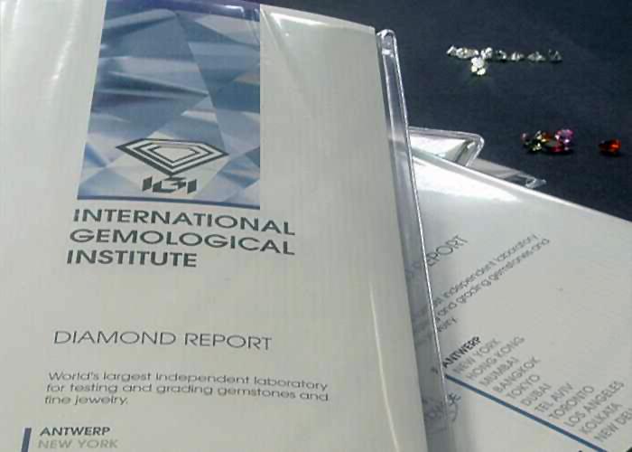certificato istituto gemmologico - diamanti pinomanna gioielli valenza