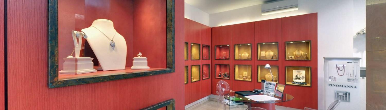 Showroom e vendita gioielli Pinomanna a Modena